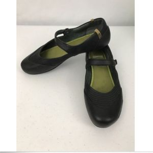Camper Mary Jane Flats Leather Rubber Womens 39
